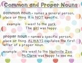 Common & Proper Nouns Poster