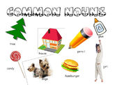 Common & Proper Nouns- Powerpoints and Mad Libs Station Activity