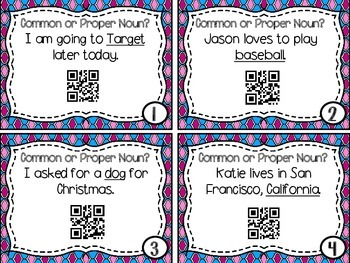 Common & Proper Nouns QR Codes
