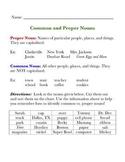 Common & Proper Nouns: Skill & Sort