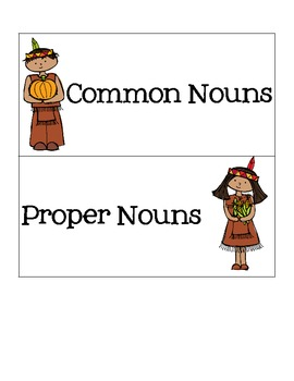 Common & Proper Nouns for Thanksgiving
