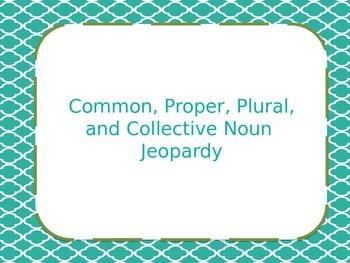 Common, Proper, Plural, and Collective Noun Jeopardy