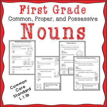 Common, Proper, and Possessive Nouns assessments.