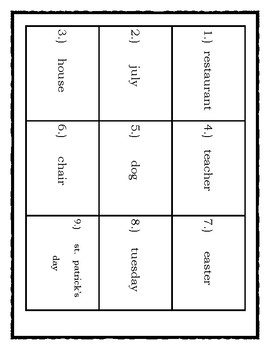 Common & Proper noun (2 dittos/2 modified also/answer keys + 18 matching cards)