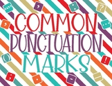 Common Punctuation Marks Printable Posters