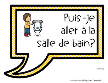 FRENCH Back to School Common Questions Posters