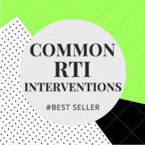 Common RTI Interventions (editable)