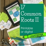Common Roots Vocabulary Volume II (distance learning option)