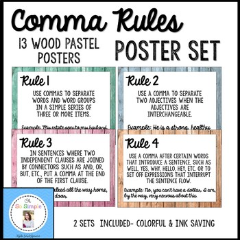 Common Rules Posters Pastel Wood