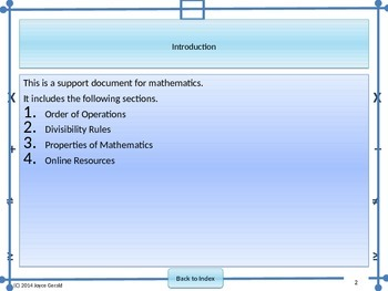Common Rules and Properties of Mathematics