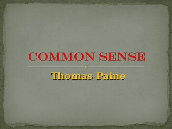 """Common Sense"" by Thomas Paine"