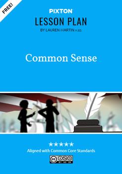 Common Sense Activities: Vocabulary, Main Idea, Quote Analysis
