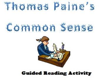 Common Sense Analysis Cooperative Reading Activity