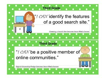 Common Sense Media I Can Statements 3-6