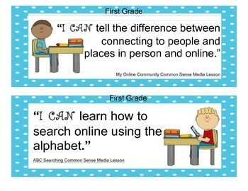 Common Sense Media I Can Statements K-2