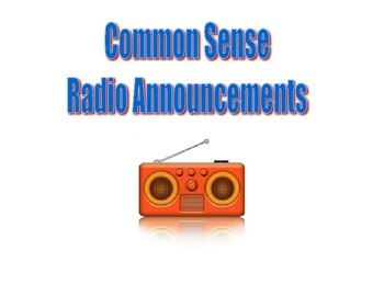 Common Sense Radio Announcement