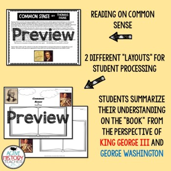 Common Sense Thomas Paine Quotes | Common Sense Visual Book Summary And Quote Placard Analysis Tpt