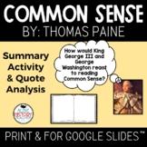 Common Sense Activity Visual Summary and Quote Analysis