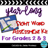 Common Sight Word Assessment Kit for 2nd and 3rd Grade