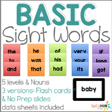 Common Sight Words (Flash Cards & Slides)
