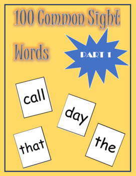 Common Sight Words Part 1