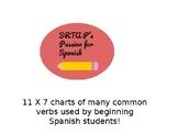 Common Spanish Verbs Charts