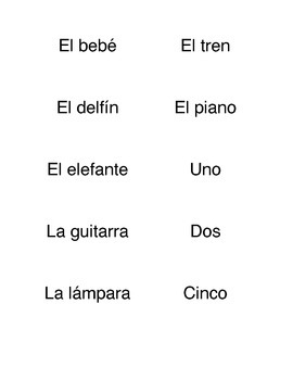 Spanish Cognates Activity
