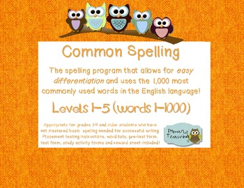 Common Spelling All 5 Levels