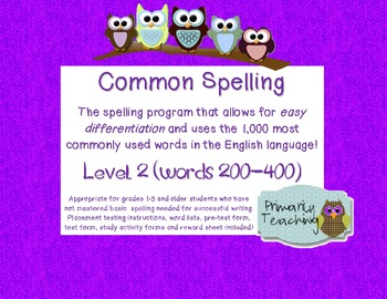 Common Spelling Level 2