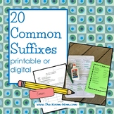 Common Suffixes Vocabulary (distance learning option)