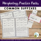 Common Suffixes Practice Morphology Awareness Activities O