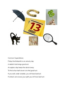 Common Superstitions