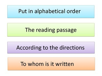Common Test Words in Phrases PowerPoint