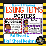 Academic Vocabulary Testing Terms Posters
