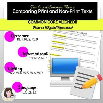 Common Theme in Print and Non-Print Texts -Bundle!
