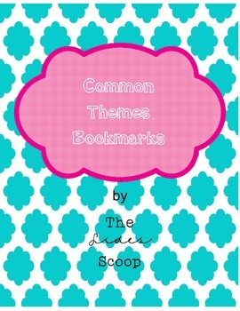 Common Themes Bookmarks FREEBIE