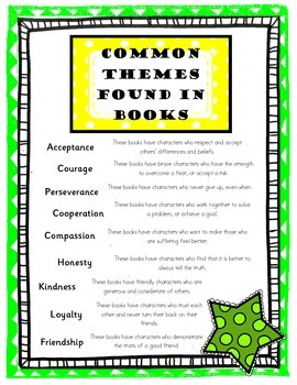 Common Themes Found in Literature - Poster