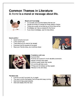 Common Themes in Literature for ELL students