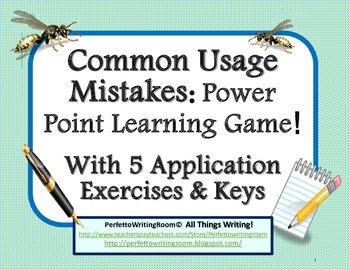 Common Usage Mistakes Power Point Game with Application exercises