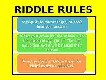 Common V. Proper Nouns Riddle Competition