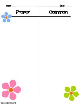 Common Versus Proper Noun Word Sort