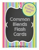 Common Word Endings / Word Families Flash Cards