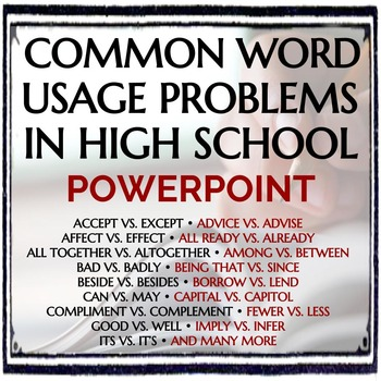 Common Word Usage Problems for High School Students - PowerPoint