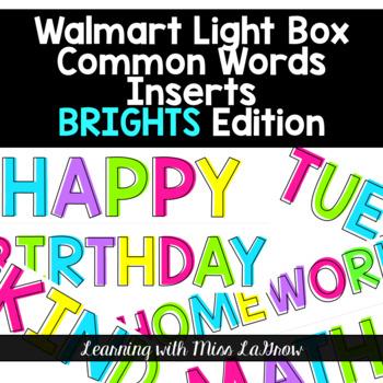 Common Words & Phrases Light Box Insert Growing Bundle