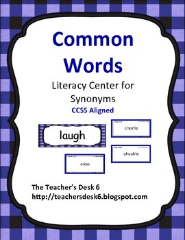 Common Words Synonyms Literacy Center
