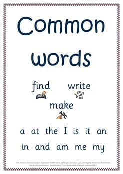 Common Words Workbook