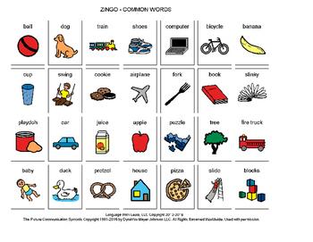 Common Words Zingo! [speech therapy and autism]