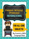 Common Writing Practices for Core Teachers