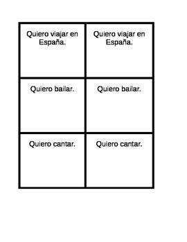 Common activities in Spanish Invitations Speaking activity