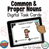 Common and Proper Nouns BOOM Cards™: 1st Grade Digital Gra